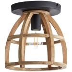 MATRIX WOOD 2 Brąz E27 Lampa sufitowa Brilliant 97064/66
