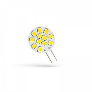 LED G4 12V 1,2W 12 LED CW 20mm 6000K Spectrum