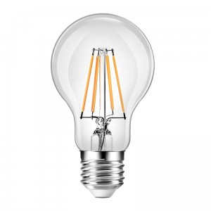 LED filament 7,5W 4000K Barwa neutralna A60 E27 806lm clear POLUX 312297