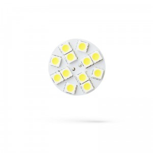 LED G4  12V 1,2W 12 LED  WW 20mm  back pin 3000K Spectrum ( na stanie 13szt.)