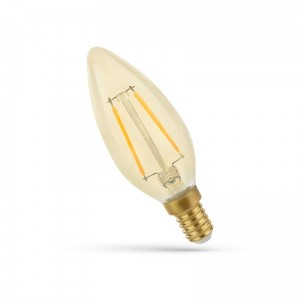 LED ŚWIECOWA E-14 230V 2W COG WW GOLDEN SPECTRUM