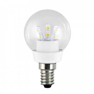 LED G45 E14 barwa ciepła 3W 250lm ceramic CLEAR GLASS POLUX 301130