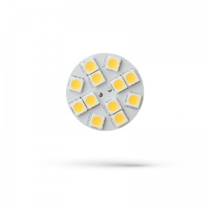 LED G4  12V 2W 12 LED WW 30mm 3000K back pin SPECTRUM  ( na stanie 8szt.)