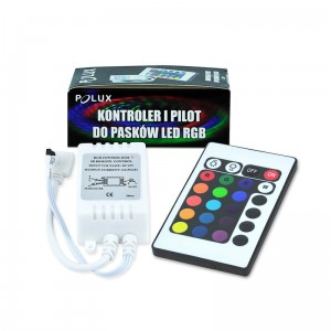 Pilot + kontroler do taśmy LED POLUX RGB LTCT-1 306548