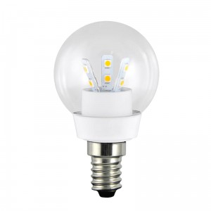 LED G45 E14 barwa zimna 3W 250lm ceramic CLEAR GLASS POLUX 301147