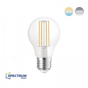 LED GLS 5W TUYA SMART Wi-Fi CCT+DIMM CLEAR COG Spectrum WOJ+14418