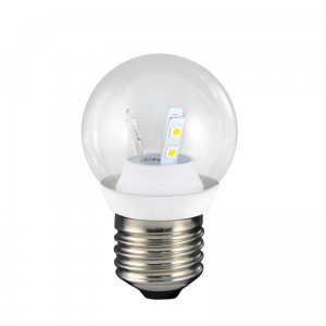 LED G45 E27 barwa zimna 3W 250lm ceramic CLEAR GLASS POLUX 301161