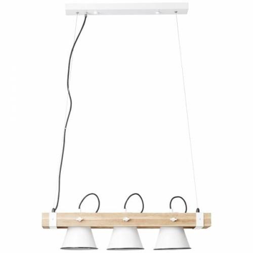 PLOW Brąz | Biały 3xE27 Lampa wisząca Brilliant 8217305